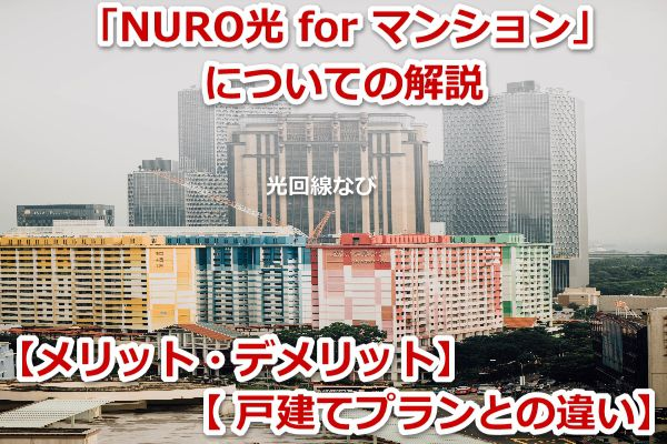 NURO光 for マンション,メリット,デメリット,戸建て